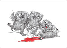 Gallery print  Party  - Tipsy Owls - Stefan Kahlhammer