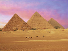 Gallery print  Pyramids at sunset - Miva Stock