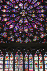 Gallery print  Stained glass windows of Notre-Dame Cathedral. - Kymri Wilt