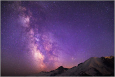Wall sticker  Milky way at the violet sky - Gary Luhm