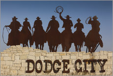 Wall sticker  Cowboys in Dodge City - Walter Bibikow