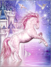 Gallery print  Pink Magic Unicorn - Dolphins DreamDesign