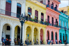 Wall Stickers  Pastel-colored building in Havana - Bill Bachmann