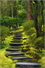 Gallery print  Stairs in the Japanese garden - Michel Hersen