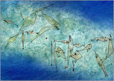 Wall sticker  Fish image - Paul Klee