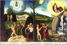 Wall sticker  Fall and redemption of man - Lucas Cranach d.Ä.