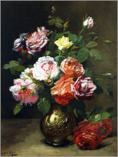 Gallery print  Roses in a vase - Dominique Hubert Rozier