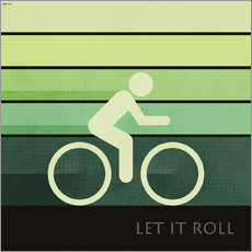 Wall sticker Let It Roll