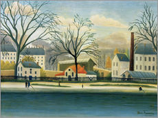 Gallery Print  Suburb on the banks of the Marne - Henri Rousseau