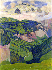 Wall sticker  Jungfrau mountain, seen from Isenfluh - Ferdinand Hodler