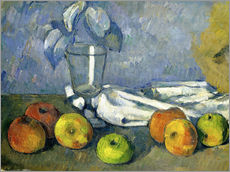 Wall sticker  Glass and apples - Paul Cézanne