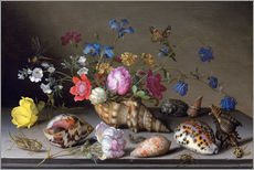 Gallery print  Flowers, shells and insects - Balthasar van der Ast