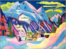 Gallery print  Davos in winter - Ernst Ludwig Kirchner