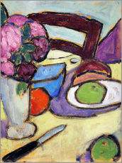 Wall Sticker  Still Life with a chair and a vase - Alexej von Jawlensky
