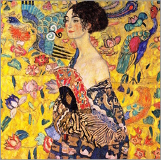 Gallery print  Lady with a Fan - Gustav Klimt