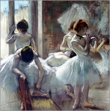 Wall sticker  Group of dancers - Edgar Degas
