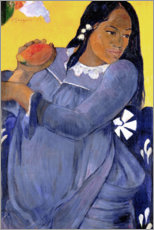 Gallery print  Woman in a blue dress with a mango - Paul Gauguin