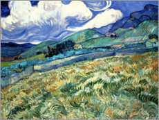 Premium poster  Mountain landscape behind the Saint-Paul Hospital - Vincent van Gogh