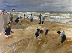 Gallery print  Beach scene in Noordwijk - Max Liebermann