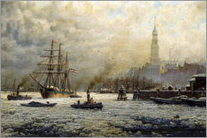 Georg Schmitz - The Port of Hamburg, 1893