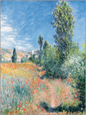 Canvas print  Landscape in Saint-Martin Lees - Claude Monet
