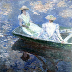 Wall Stickers  girls in a boat - Claude Monet