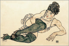 Gallery print  Reclining Woman with Green Stockings - Egon Schiele
