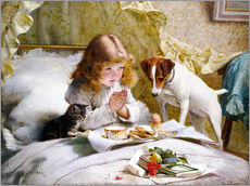 Wall sticker  The Prayer, 1894 - Charles Burton Barber