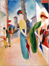 Wall sticker  In front of hat shop - August Macke