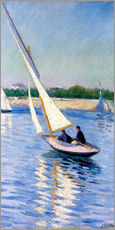 Wall sticker  Sailboat on the Seine at Argenteuil - Gustave Caillebotte