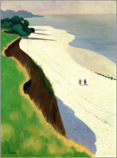Wood print  The Cliff and the White Shore - Felix Edouard Vallotton