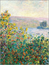 Gallery Print  Flower Beds at Vetheuil - Claude Monet