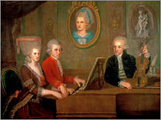 Wall sticker  The Mozart family making music - Johann Nepomuk della Croce