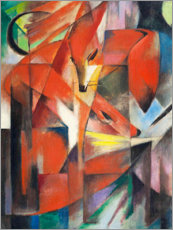 Wood print  Foxes - Franz Marc