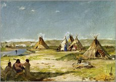 Wall sticker  Camp of the Indians in Wyoming - Frank Buchser