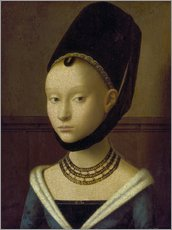 Petrus Christus - Portrait of a young woman in 1470