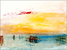 Canvas print  Venice, seen by Fusina - Joseph Mallord William Turner