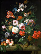 Gallery print  Still life with flowers and fruits - Rachel Ruysch