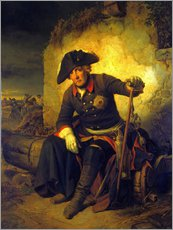Gallery print  Friedrich II. After the battle of Kolin - Julius Schrader