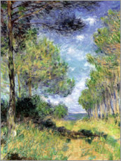 Premium poster  Conifers in Varengeville - Claude Monet