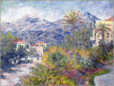 Foam board print  Villas at Bordighera - Claude Monet