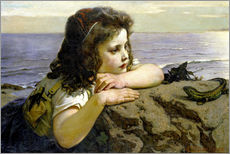 Gallery print  The girl with the lizard - Ernst Stückelberg