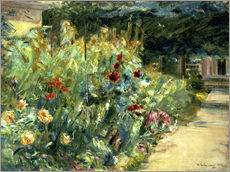 Gallery print  Flower Garden in Giverny at the Wannsee - Max Liebermann