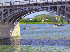 Wall sticker  Bridge at Argenteuil - Gustave Caillebotte
