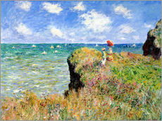 Claude Monet - Clifftop Walk at Pourville