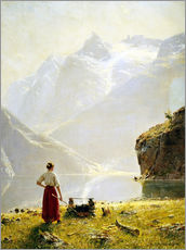 Wall sticker  Summer day on a Norwegian fjord - Hans Dahl