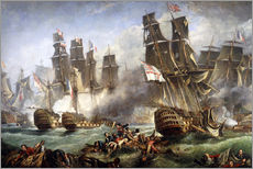 Wall sticker  The Battle of Trafalgar - William Clarkson Stanfield