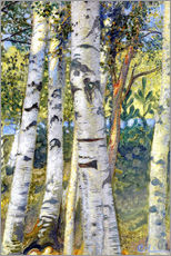 Wall sticker  Birch trunks - Carl Larsson