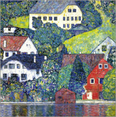 Wall sticker  Houses in Unterach - Gustav Klimt