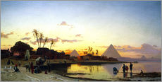 Gallery Print  Sonnenuntergang am Nil, Kairo. - Hermann David Salomon Corrodi